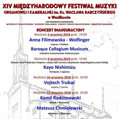 Plakat XIV MFMOiK w Wasilkowie 2018