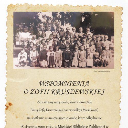 Wspomnienia o Zofii Kruszewskiejzm