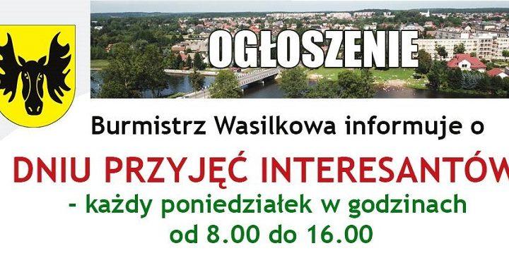 Poniedziałek dniem przyjęć interesantów w Urzędzie Miejskim w Wasilkowie