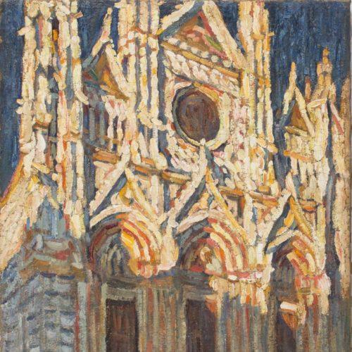 A. Szturman, Katedra w Sienie, olej na płótnie, 70,5 x 58,5 cm, wł. Muzeum Podlaskiego w Białymstoku_1