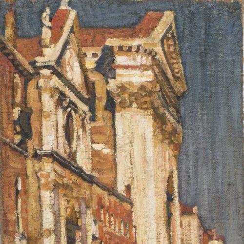 A. Szturman, Portal kościoła w Wenecji, olej na płótnie, 67,5 x 47 cm, nr inw MB-S-2010