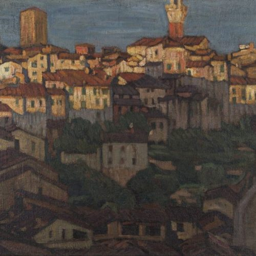 A. Szturman, Widok ogólny Sieny, olej na płótnie, 71,5 x 103 cm, wł. Muzeum Podlaskiego w Białymstoku